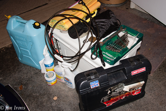The garage pile ... just started because we use this stuff all the time.