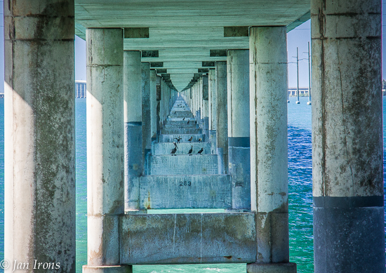 View from below the new 7 Mile Bridge