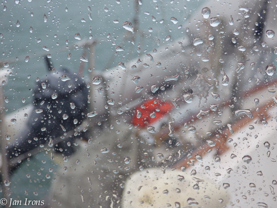 If you're dinghy's on davits or hung from the boat's hip, don't forget to remove the drain plug during monsoons!