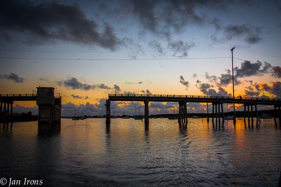 Boot Key Harbor Old Bridge in the predawn light