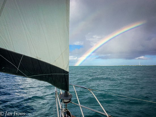 Weather Forecast says zero change of rain ... oh wait, we got wet, but at least we had a beautiful rainbow!