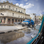 Even the streets around the Capitolito are being washed.