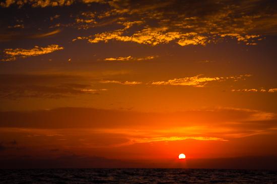 Sunrise 12 miles off the coast of Cuba!