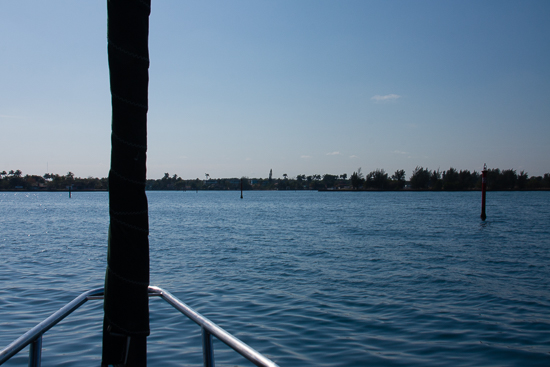 The channel just past the sea buoy - not far, but narrow with the reef jutting out on both sides.