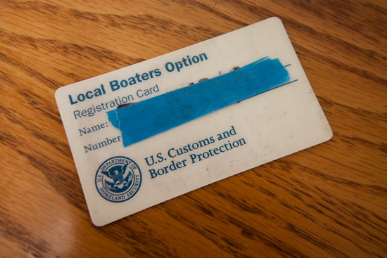 Local Boater Option Card