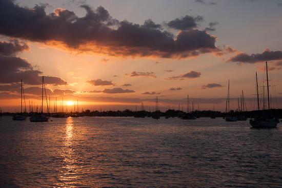 Sunrise leaving Marathon in the Florida Keys