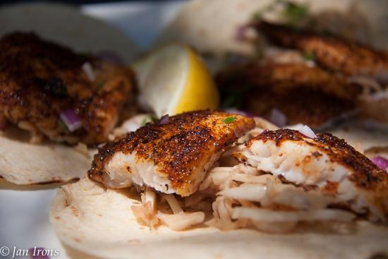 Yummy Fish Tacos at Mar Vista restaurant