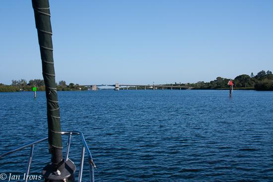 Approaching Manasota Beach Bridge.