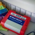 Our trusty West Marine Battery Charger saves the day yet again!